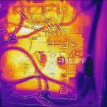 Marine surveyor in Jupiter FL using thermal imaging for a boat inspection.